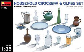 Набор бытовой посуды. 1/35 MINIART 35559