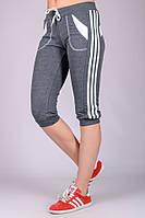 Бриджи женские спортивные (темно-серые), фото 1