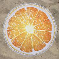Пляжное полотенце круглое LETTO Апельсин 150 см