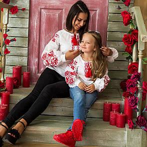Комплект вышиванок мама + дочка Жар Птица, фото 2