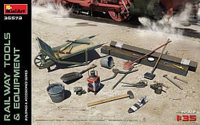 Железнодорожное оборудование и инструменты. 1/35 MINIART 35572