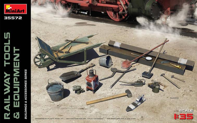 Железнодорожное оборудование и инструменты. 1/35 MINIART 35572 , фото 2