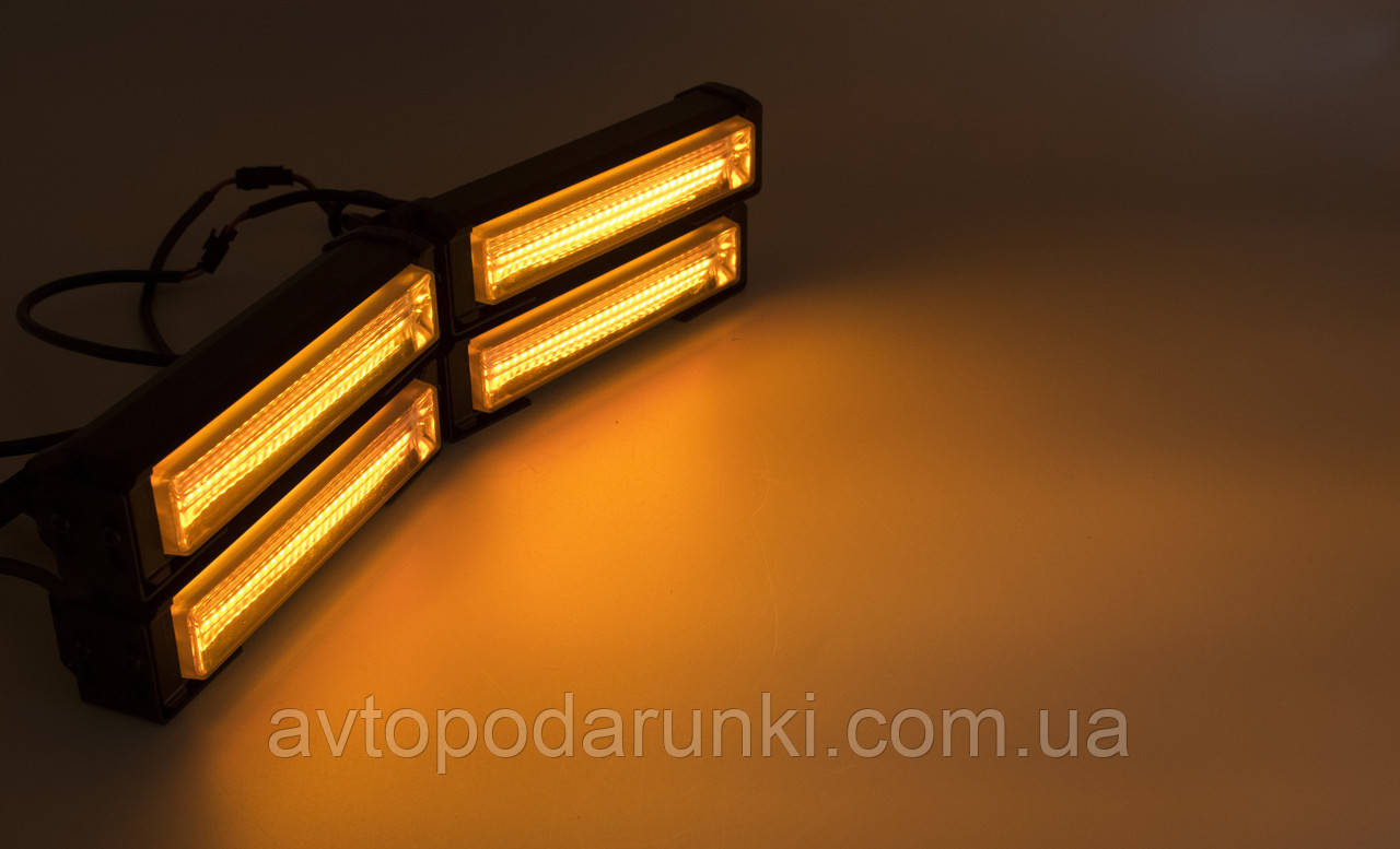 Стробоскопы LED Caution Light COB 1-4 желтые