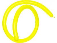 Шары воздушные для моделирования пастель Желтый длина 140см диаметр 5см 100шт.