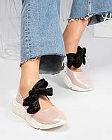 Слипоны женские кожаные пудра, фото 1