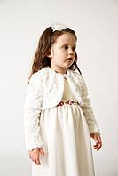 Болеро біле хутряне для дівчинки розмір 80-140