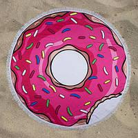 Пляжное полотенце круглое LETTO Пончик 150 см