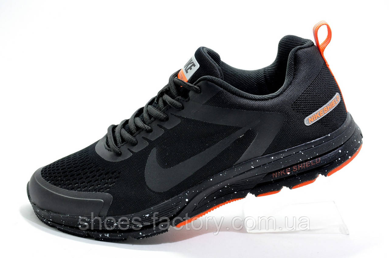 Беговые кроссовки в стиле Nike Shield Structure 17, Black\Orange