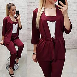 Костюм женский, модель 165, цвет - бордо