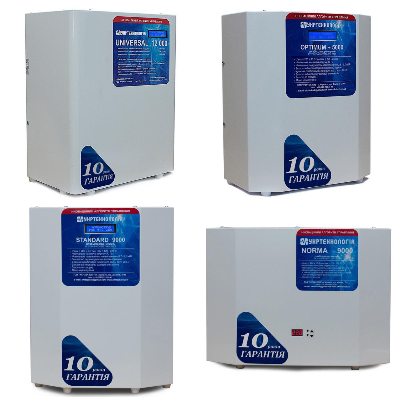 Стабилизатор напряжения Укртехнология НСН 9000 Optimum HV 9,0 кВт