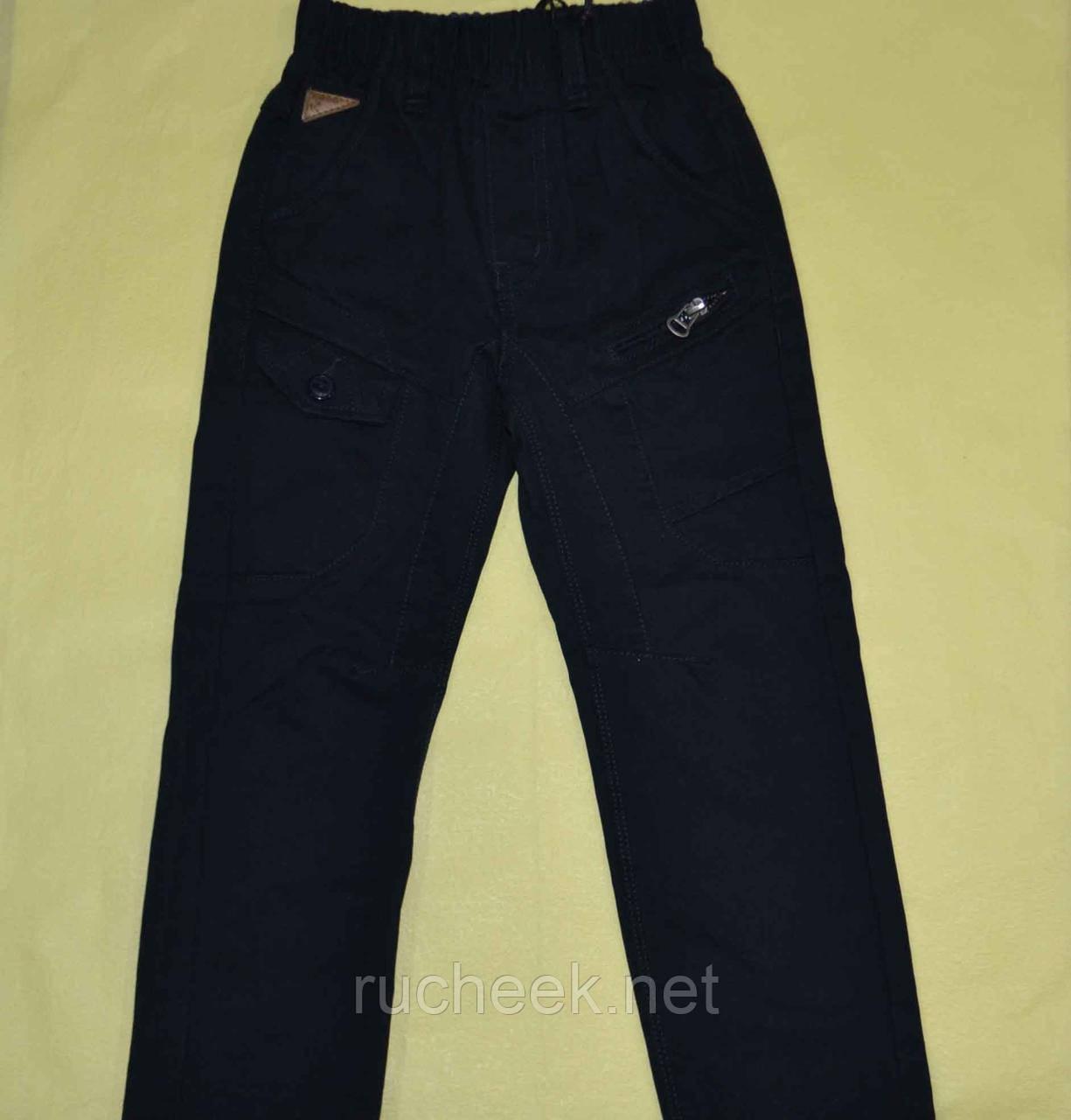 Котоновые черные брюки для мальчика р-р 104 ТМ Grace B 41620