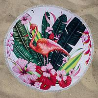 Пляжное полотенце круглое LETTO Фламинго 150 см