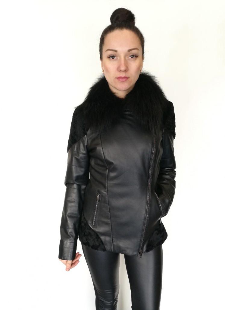 Кожаная куртка Oscar Fur 389 Черный