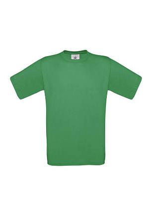 Футболка хлопок B&C унисекс Exact 190 бесшовная зеленая, фото 2