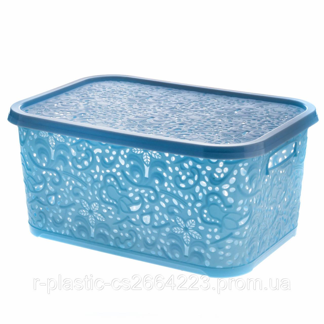 "Корзинка R-Plastic ""Ажур"" 22л 43,5*31*20,5см голубая"