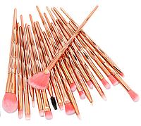 Набор кистей для макияжа 20 шт кристалл. Профессиональные кисти для макияжа