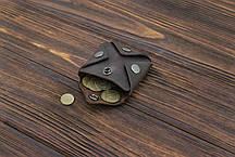 Монетница из кожи ручной работы VOILE cn3-brn, фото 3