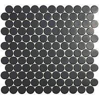 Мозаїка 30,1*31,3 Matt Black Circle 6108C