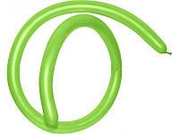 Шары воздушные для моделирования пастель Салатовый длина 140см диаметр 5см 100шт.