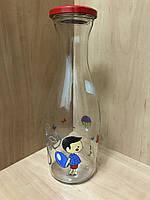 """Бутылка стеклянная с декором """"Мальчик"""" 1000мл. EVERGLASS"""