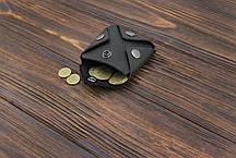 Монетница из кожи ручной работы VOILE cn3-blk, фото 2