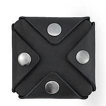 Монетница из кожи ручной работы VOILE cn3-blk, фото 3