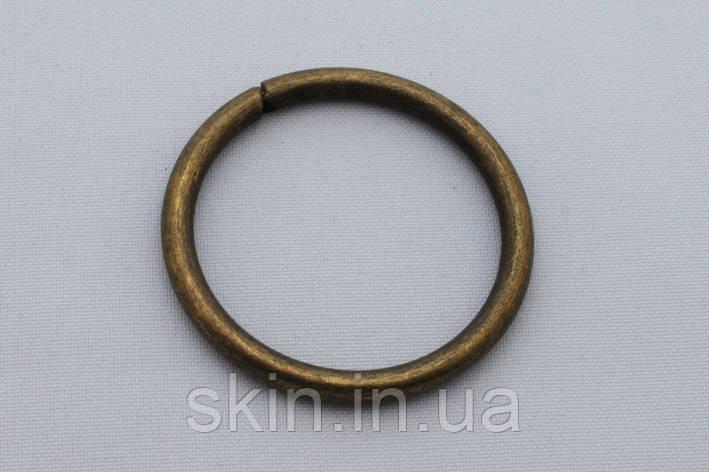 Кольцо металлическое, внутренний диаметр 39 мм, толщина 4.2 мм, цвет - антик, артикул СК 5425, фото 2