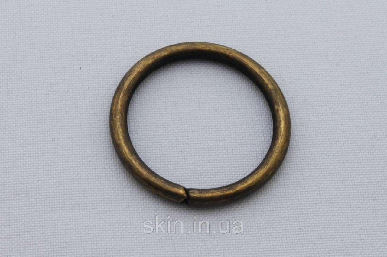 Кольцо металлическое, внутренний диаметр 31 мм, толщина 3.7 мм, цвет - антик, артикул СК 5426