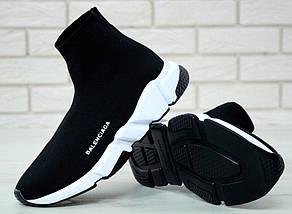 Женские и мужские кроссовки Balenciaga Speed Trainer Sock Black/White, фото 2