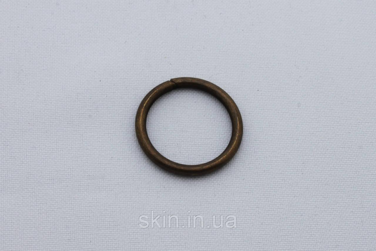 Кольцо металлическое, внутренний диаметр 20 мм, толщина 2.6 мм, цвет - антик, артикул СК 5424