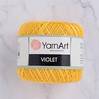 Пряжа YarnArt Violet 4653 светло-желтый (ЯрнАрт Виолет) 100% мерсеризованный хлопок