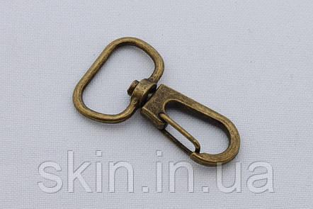 Карабин, ширина - 19 мм, цвет - антик, артикул СК 5431, фото 2