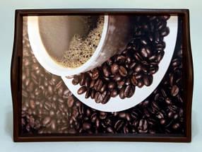 """Поднос на подушке с ручками """"Coffee"""" 49*36*8 (6021-2)"""