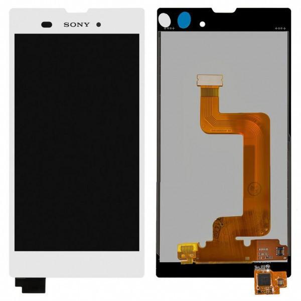 Дисплей (экран) для Sony D5102 Xperia T3 с сенсором (тачскрином) белый Оригинал
