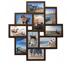Мультирамки деревянные на 10 фото