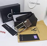 Мужской кожаный ремень Calvin Klein. ТОП КАЧЕСТВО!!!