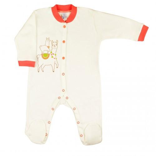 Комбинезон для новорожденных Верес LLama Love's you интерлок 56 см молочный