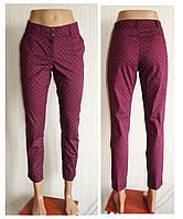 Летние бордовые брюки легкие, фото 1