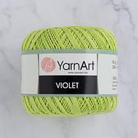 Пряжа YarnArt Violet 5352 салатовый (ЯрнАрт Виолет) 100% мерсеризованный хлопок