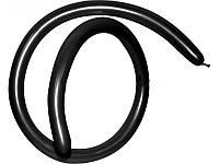 Шары воздушные для моделирования пастель Черный длина 140см диаметр 5см 100шт.