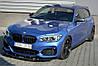 Диффузор переднего бампера накладка тюнинг BMW 1 F20 F21 M-Power рестайл стиль 2, фото 5