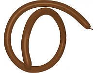 Шары воздушные для моделирования пастель Шоколадный длина 140см диаметр 5см 100шт.