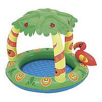Детский бассейн  52179 Джунгли 99x91x71 НАДУВНОЕ ДНО Детский бассейн с крышей Бассейн детский