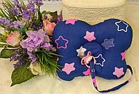 Ортопедическая подушка -бабочка для новорожденных