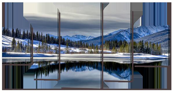 Модульная картина Interno Искусственный холст Красивая зима 123х66см (Z750M)