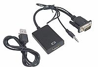Конвертер адаптер с VGA на HDMI+аудио 1080 VGA2HDMI переходник монитор