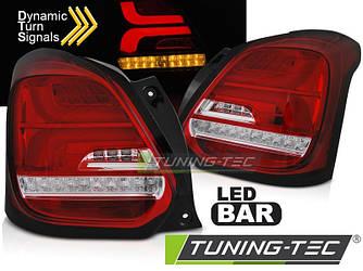 Диодные фонари Led тюнинг оптика Suzuki Swift 6 красные