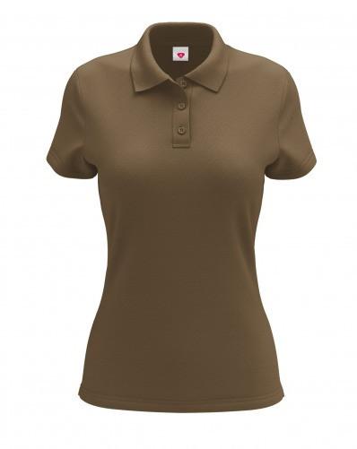 a1c1bbc87f745 Футболка женская Polo коричневая, цена 225 грн., купить в Хмельницком —  Prom.ua (ID#966217807)