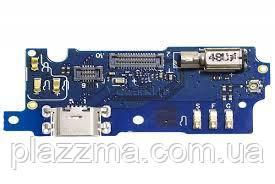 Шлейф Meizu M3s нижняя плата с разъемом зарядки, микрофоном и вибромотором