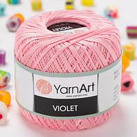 Пряжа YarnArt Violet 6313 светло-розовый (ЯрнАрт Виолет) 100% мерсеризованный хлопок